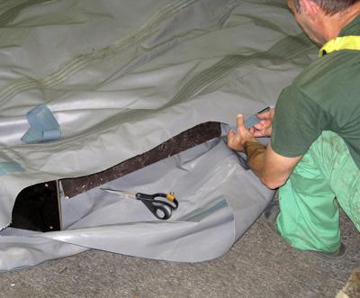 ремонт пробоин на лодках пвх